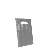 Gray Extra Small Eco-friendly Die Cut Plastic bag Thumb