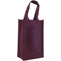 Burgundy 2 Bottle Wine Tote Thumb