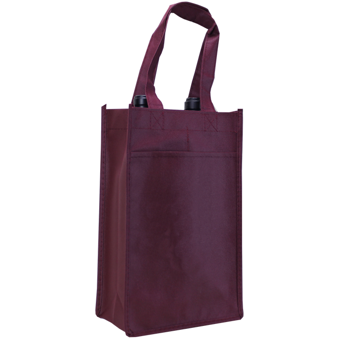 Burgundy 2 Bottle Wine Tote