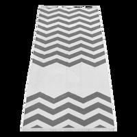 Grey Horizon Chevron Striped Beach Towel Thumb