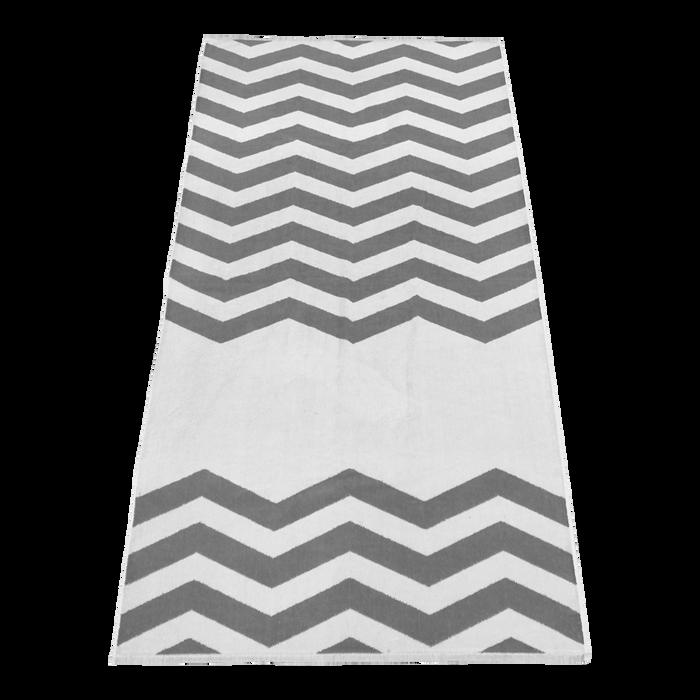 Grey Horizon Chevron Striped Beach Towel