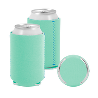 Ice Green Premium Collapsible Neoprene Koozie Thumb