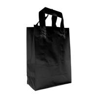 Black Small Frosted Plastic Shopper Thumb