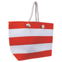 Red Marina Striped Beach Tote Thumb