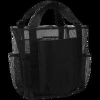 Black Schooner Mesh Pocketed Beach Bag Thumb