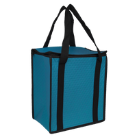 Sea Blue Square Top Insulated Tote Thumb