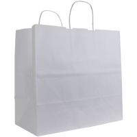 White Medium White Paper Shopper Bag Thumb
