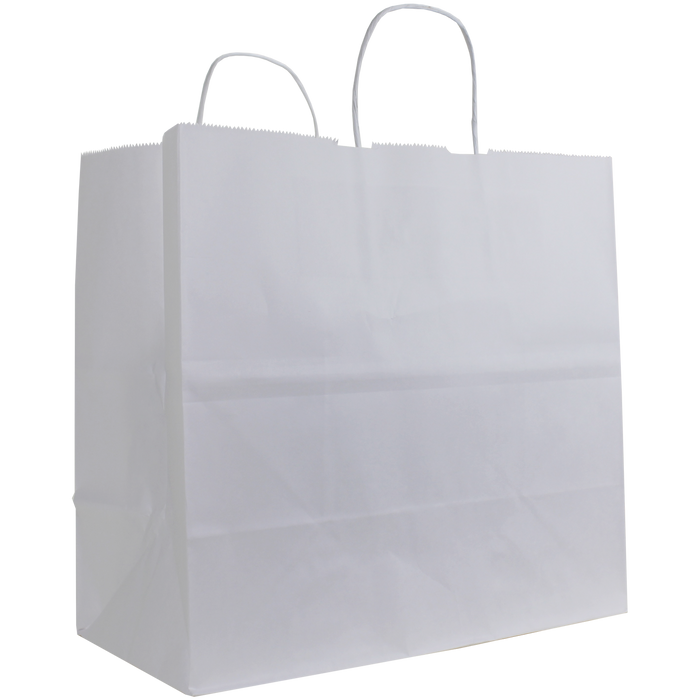 White Medium White Paper Shopper Bag