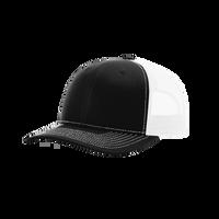 Black/White Richardson Trucker Snapback Hat Thumb