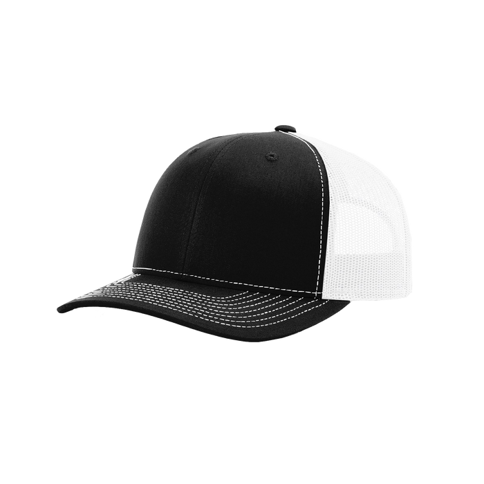 Black/White Richardson Trucker Snapback Hat