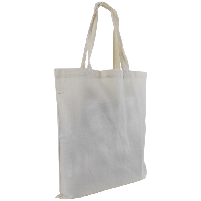 Natural Slim Cotton Canvas Tote