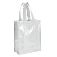 White Laminated Fiesta Tote Thumb