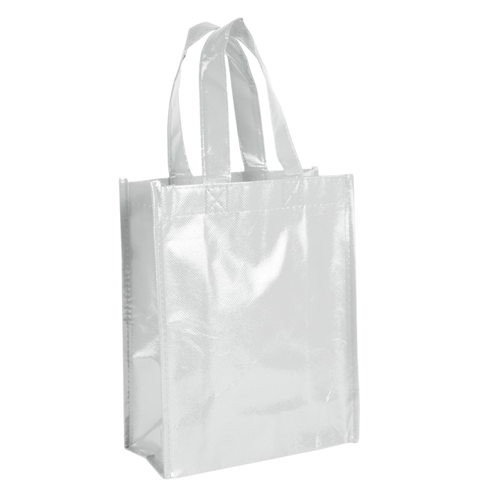 White Laminated Fiesta Tote