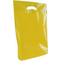 Yellow Medium Eco-Friendly Die Cut Plastic Bag Thumb