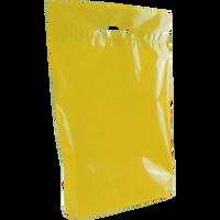Yellow Medium Eco-Friendly Die Cut Plastic Bag Thumb