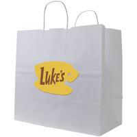Medium White Paper Shopper Bag Thumb