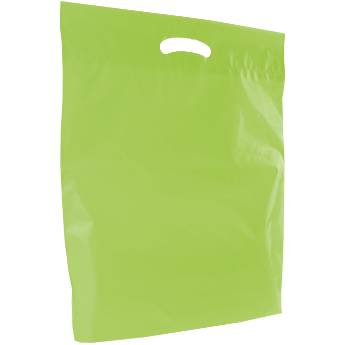 Lime Large Eco-Friendly Die Cut Plastic Bag