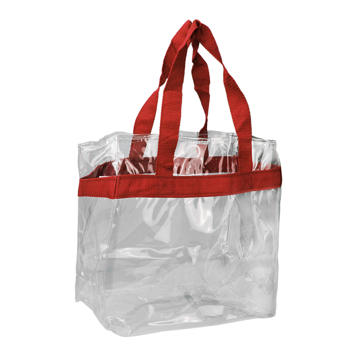 Red Heavyweight Vinyl Tote Bag
