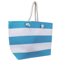 Turquoise Marina Striped Beach Tote Thumb