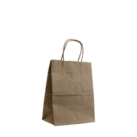 Natural Extra Small Kraft Paper Shopper Bag Thumb