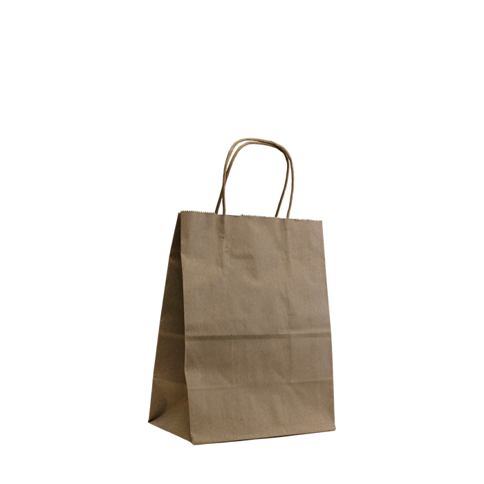 Natural Extra Small Kraft Paper Shopper Bag