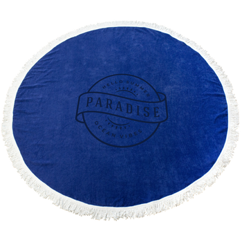Fringed Color Round Beach Towel