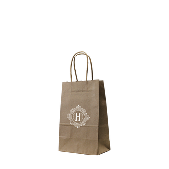 Mini Kraft Paper Shopper Bag