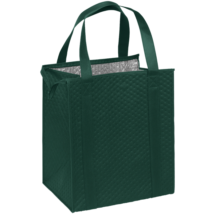 Hunter Green Large Insulated Cooler Tote