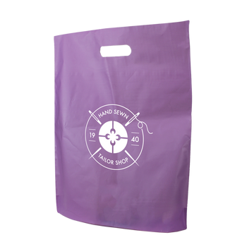 Large Frosted Die Cut Bag