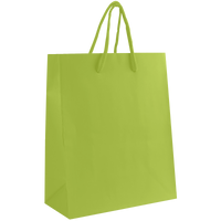Lime Small Matte Shopper Bag Thumb