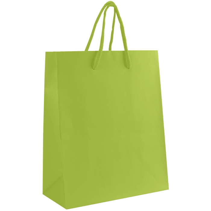 Lime Small Matte Shopper Bag