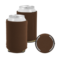 Brown Premium Collapsible Neoprene Koozie Thumb