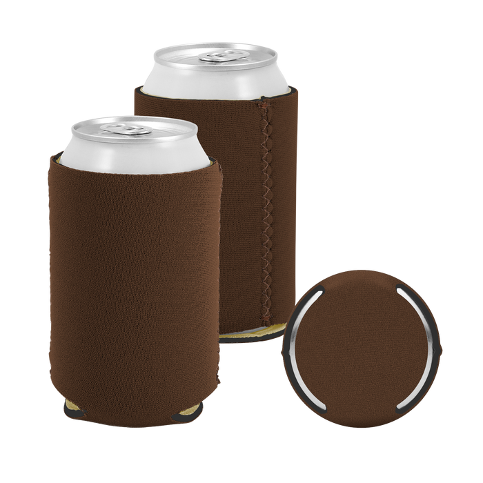 Brown Premium Collapsible Neoprene Koozie
