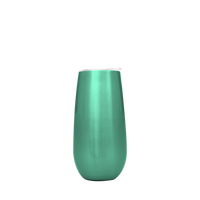 Seafoam Stainless Steel Champagne Flute Thumb