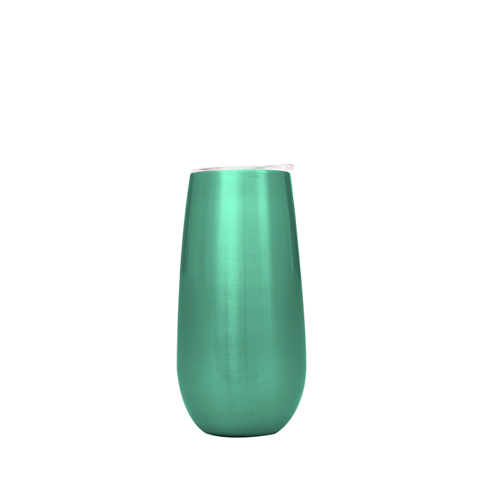 Seafoam Stainless Steel Champagne Flute