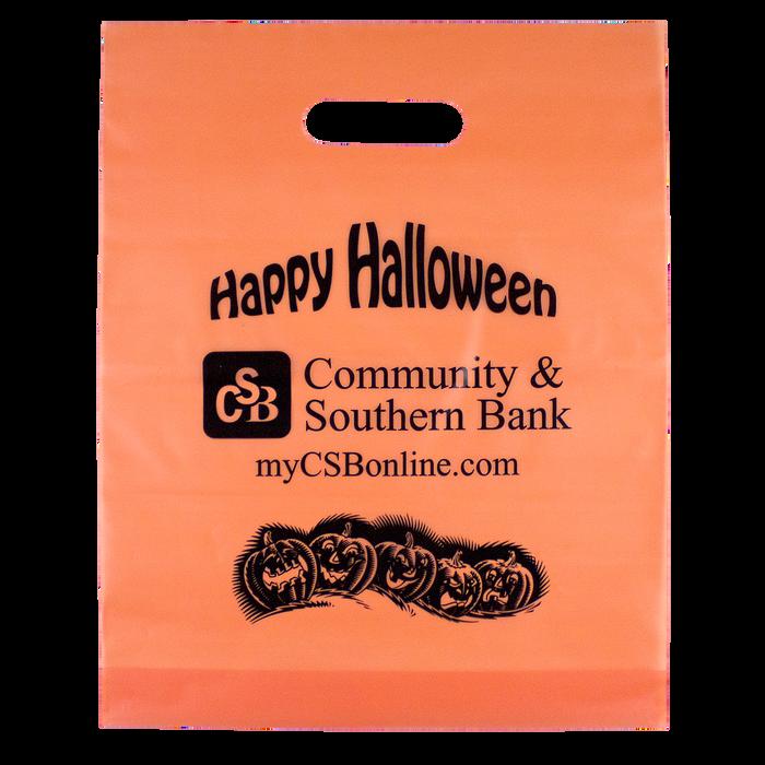 Orange Frosted Trick-or-Treat Bag