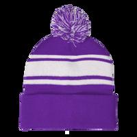 Purple Striped Winter Beanie Thumb