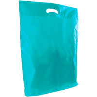 Teal Large Die Cut Plastic Bag Thumb