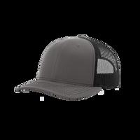 Charcoal/Black Richardson Trucker Snapback Hat Thumb