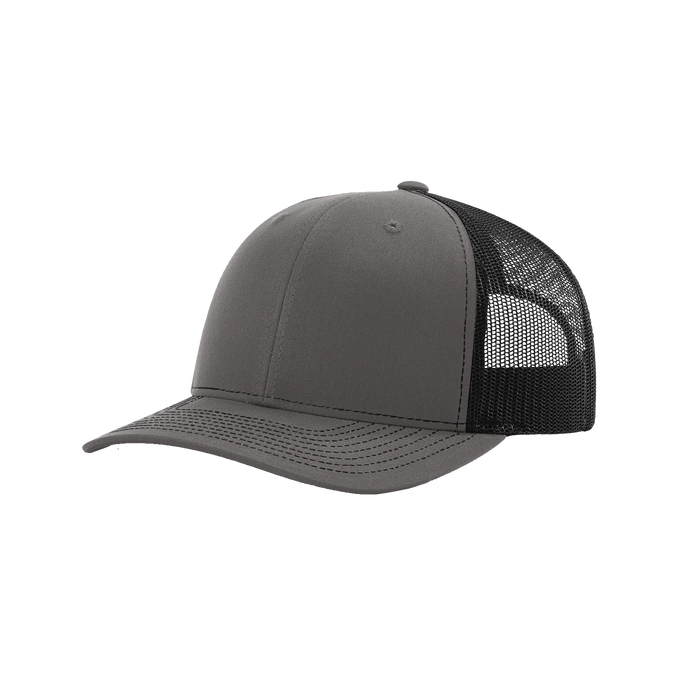 Charcoal/Black Richardson Trucker Snapback Hat