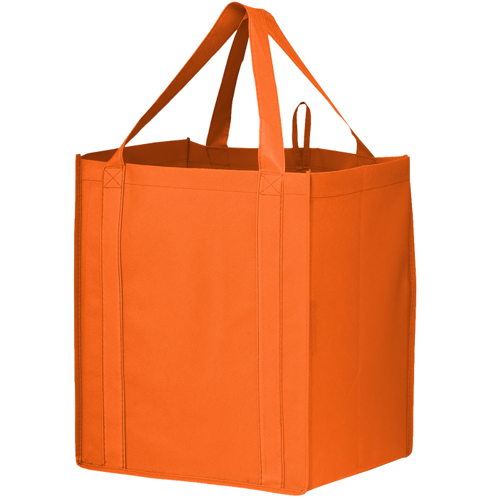 Orange Big Storm Grocery Bag