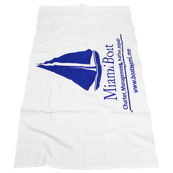 Budget White Beach Towel