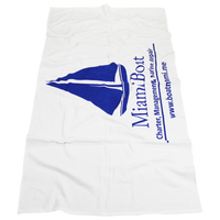 Budget White Beach Towel Thumb
