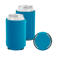 Teal Premium Collapsible Neoprene Koozie Thumb