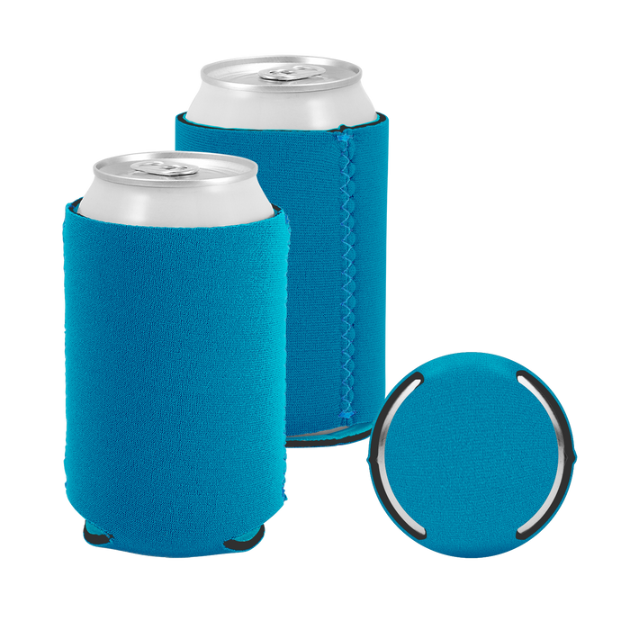 Teal Premium Collapsible Neoprene Koozie
