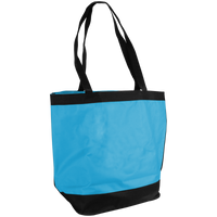 Turquoise Clipper Fashion Tote Bag Thumb