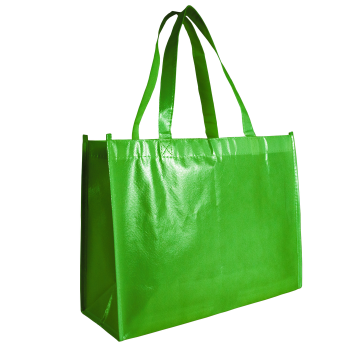 Lime Green Laminated Convention Tote