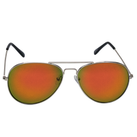 Red Mirrored Miami Aviator Sunglasses Thumb