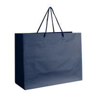 Navy Blue Medium Matte Shopper Bag Thumb