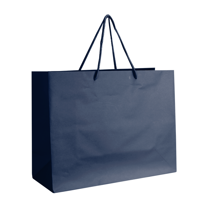 Navy Blue Medium Matte Shopper Bag